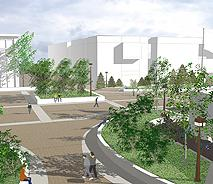 Rendering of Buffalo State Plaza